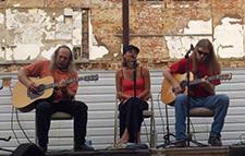 Detroit Klutch performing in the Pomerene Center's Beer Garden in the PARK, 1st Friday Celebration, September 2012