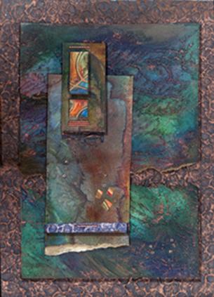 Copper texture colllage